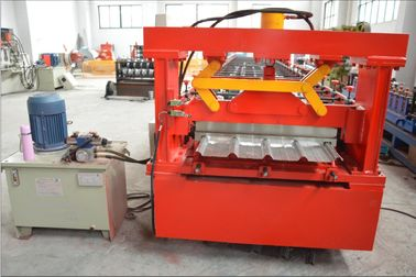Thick Galvanized Steel Roof Panel Roll Forming Machine with Chain Driving System