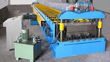 China G550 Galvanized Embossment Steel Flooring Deck Plate Roll Forming Machinery 22KW factory