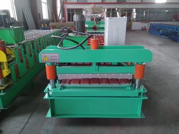 PLC Control Roof Panel Roll Forming Machine 0.3-0.8mm Profile Thickness