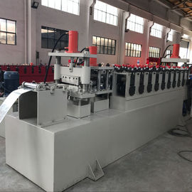 C Channel Cable Tray Roll Forming Machine , Cable Trunking Cover Metal Roll Forming Machines