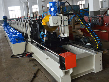 China Rack Beam Tube Steel Pipe Making Machine , Rack H Beam Cold Roll Former Machine distributor