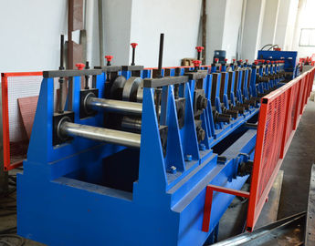 China Automatic Adjustment CZ Purlin Roll Forming Machine With Hole , Chain Drive Pre Cutting distributor