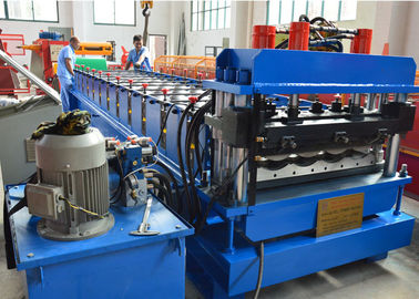 1.2 Inch Single Chain Drive Glazed Tile Roll Forming Machine With Material  Width 1000mm