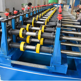 China Metal Chanel Roll Forming Machine Chain Driven PLC Control 22KW With Reducer distributor
