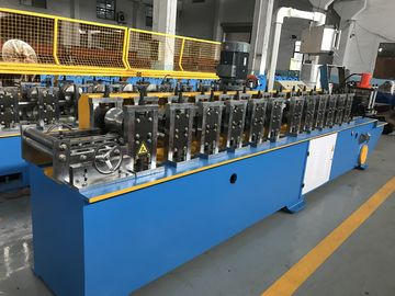 China Metal Shutter Door 12 Stations Roll Forming Machine PLC Control System factory