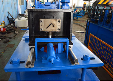 China 11 Stations Roller Rack Roll Forming Machine , Steel Angle Rolling Machine With Control Box distributor