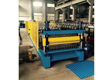 China Hydraulic Punching 2 Layer Steel Roll Forming Machine 0.25-0.8mm Thickness factory