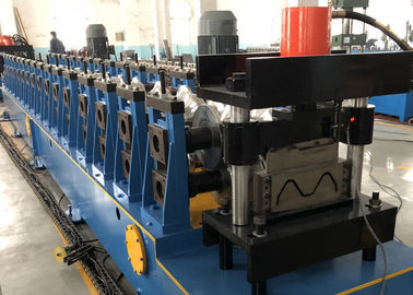 China Galvanized W Beam Expressway Metal Roll Forming Machine 22KW Hydraulic Decoiler distributor