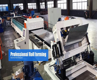 China Steel Silo Metal Roof Roll Forming Machine Gear Box Driven On Line Crimping distributor