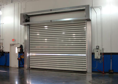 China Turbline Hard Aluminum Roller Shutter Doors High Speed With 32mm Thickness distributor