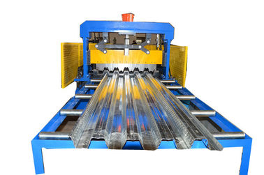 China Galvanised Metal Floor Deck Roll Forming Machine PLC Control High Speed factory