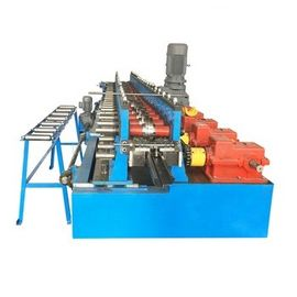 China 20 Steps Door Frame Roll Forming Machine , Cold Roll Forming Equipment With Hydraulic Cutting factory