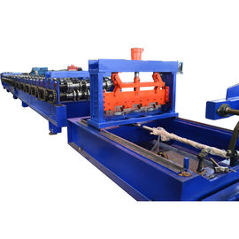 China Heavy Duty 1.5mm thickness Metal Deck Floor Roll Forming Machine with 10 ton hydraulic decoiler factory