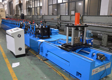 China Upright Rack Roll Forming Machine With Hole Punching Yield Strength 250 - 550mpa factory