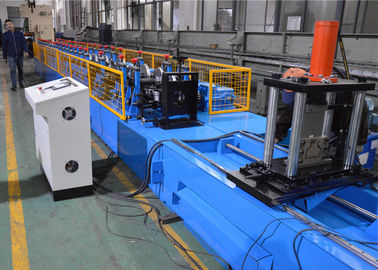 China Automatic PLC Control Storage Rack Roll Forming Machine With Hydraulic Decoiler factory
