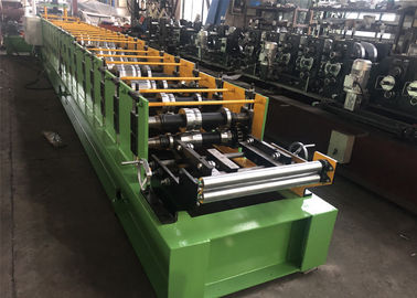 China 16 Rollers K Style Downspout Roll Forming Machine , Gutter Making Equipment PLC Control factory