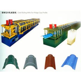 China 16 Roller Stations Round Ridge Cap Roll Forming Machine Thickness 0.3-0.8mm Galvanized Coil factory