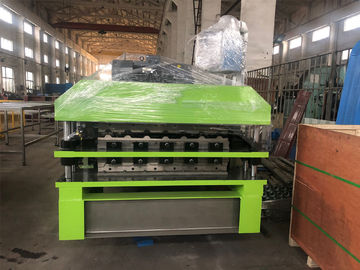 China PPGI Galvanized coils Corrgudated and Ibr Double layer roll forming Machine with 10 ton hydraulic decolier with coil car factory