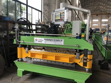 China PPGI Aluminium coils thickness 0.18-0.5mm Double layer roll forming machine with 12 meters auto stacker factory