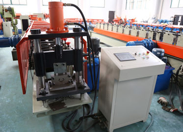 China 1.5mm thickness  Galvanized coil Vineyard post stake roll forming machine with 6 meters auto stacker factory