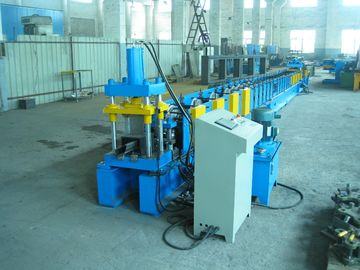 China Blue 220mm Profile Width Roll Forming Machinery For Door Frame factory