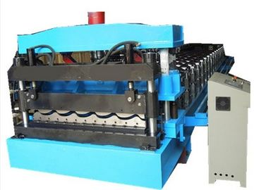 China Thickness 0.3mm-0.8mm Colour Steel Roofing Sheet Cold Roll Forming Machine For Steel Roof Panel distributor