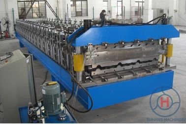 0.3 - 0.8mm  Colour Steel Double Layer Roll Forming Machine High Speed 15m/min Fully Automatic