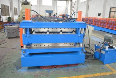China Quenching Treated Durable Steel Double Layer Roll Forming Machine PLC Control System factory