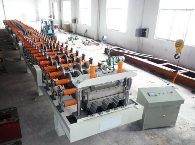 Trapezoidal Profile Floor Deck Roll Forming Machine , Glazed Tile Making Machine