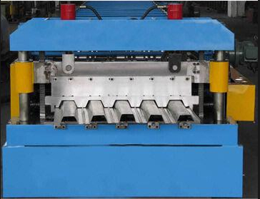 28 Stations Fully Automatic Trapezoidal Sheet Floor Deck Making Machine With Chain Drive