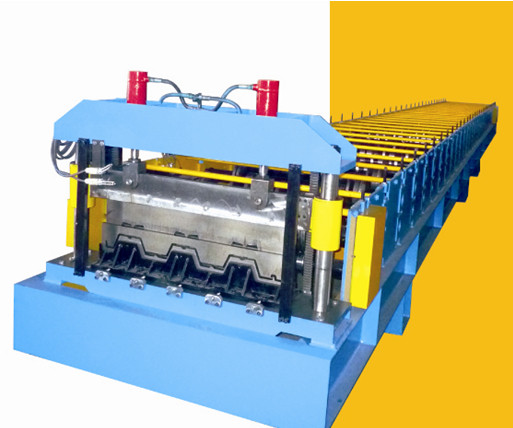 Profiled Steel Sheet Floor Decking Panel Roll Forming Machine Feeding Width 1220mm