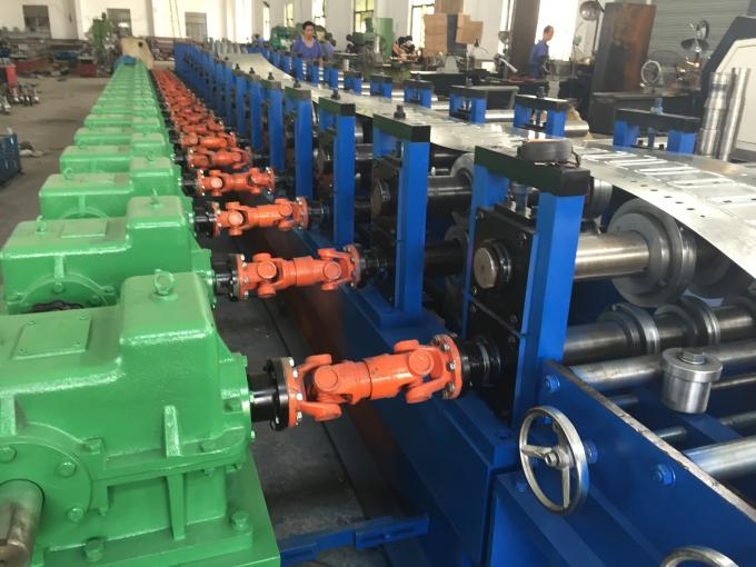 Touch Screen PLC Control Cable Tray Machine 20 Roller Stations Roll Forming Machinery