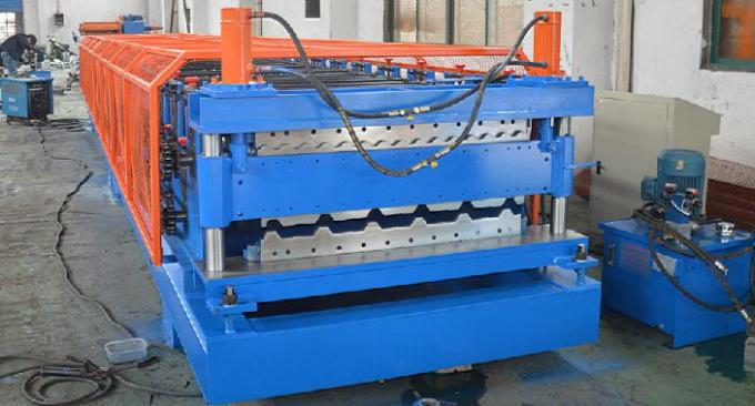 Forming Speed 8-12m/min Double Layer Roll Forming Machine Shaft Diameter 76mm