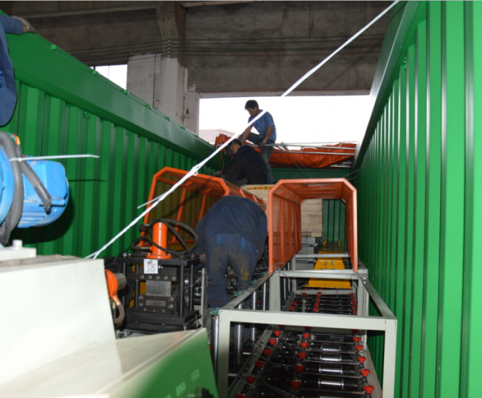 1000mm Coil Sheet 5.5Kw Ceiling PU Sandwich Panel Production Line 1.0 Inch Chain