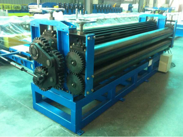 Colour Coated Steel Barrel Type Roofing Sheet Roll Forming Machine High Speed