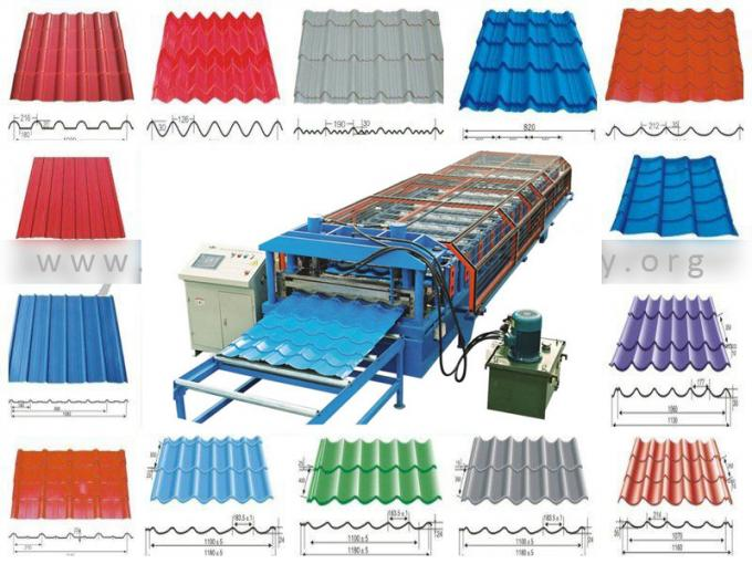 Step Glazed Tile Roll Forming Machine