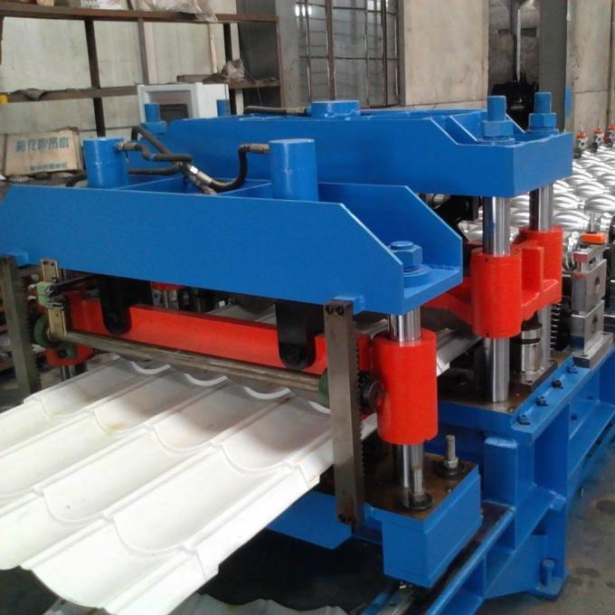 Fully electric automatic galvanized glazed tile roll forming machine