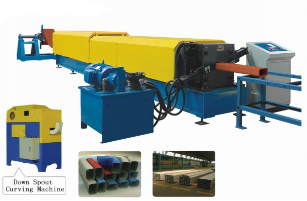 5.5KW Carbon Steel Downspout Roll Forming Machine High Speed 8 - 10 m / min