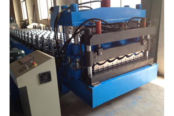 Hydraulic Power Automatic Metal Roofing Sheet Glazed Tile Making Machine 5 Ton Manual Decoiler