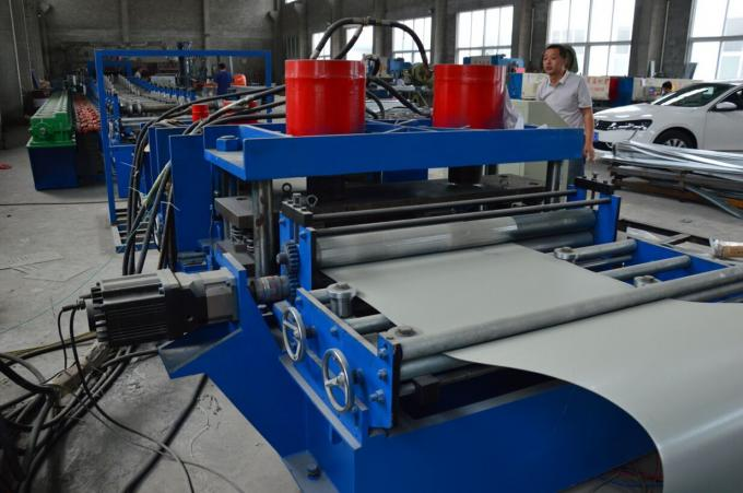 PLC Control System Cable Tray Roll Forming Machine Chain Driven 13m * 1.4m * 1.4m