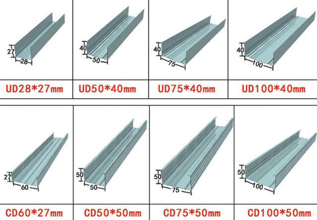 13 Stations Ceiling Batten Roll Forming Machine Material Thickness 0.48-0.55mm