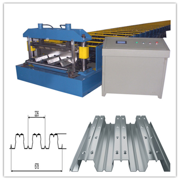 Steel Structure Metal 688 Deck Roll Forming Machine , Galvanized Floor Decking Roll Former Machine