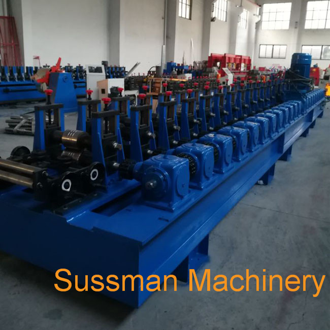 C Shaped Steel Strut Channel Roll Forming Machine With 10 - 12 m/Min Working Speed