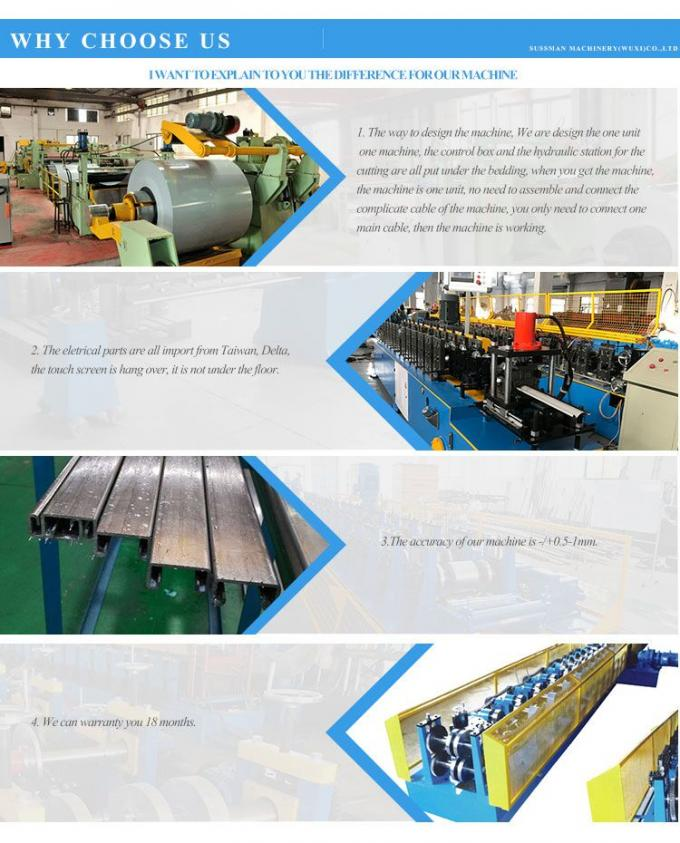 45# Steel Stud And Track Roll Forming Machine Colored Steel With PLC Control System