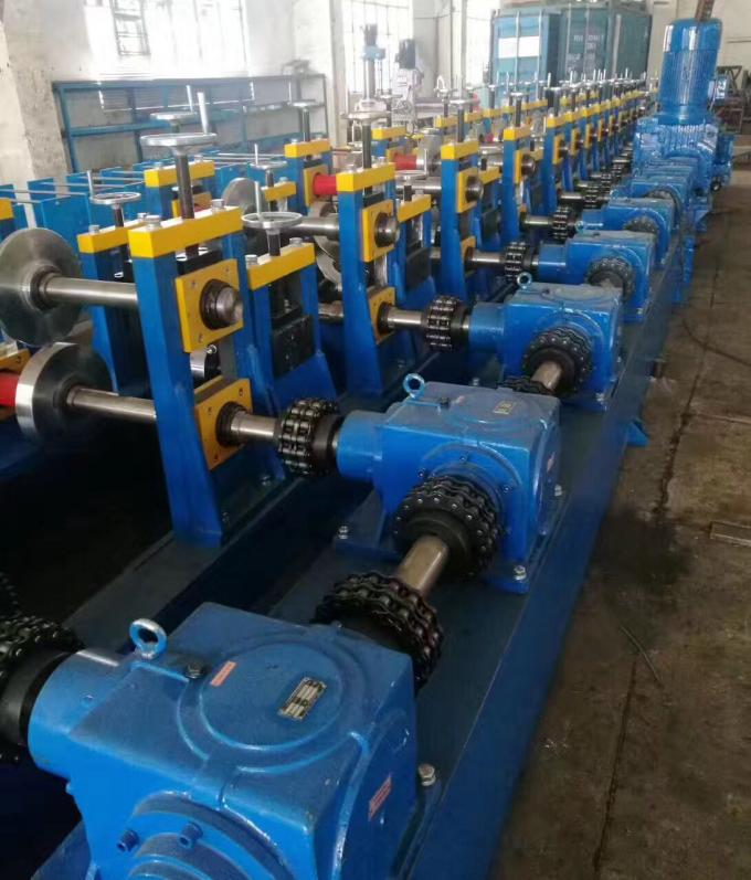 c channel  7000w Power C Z Purlin Roll Forming Machine  3600kg Passive Decoiler