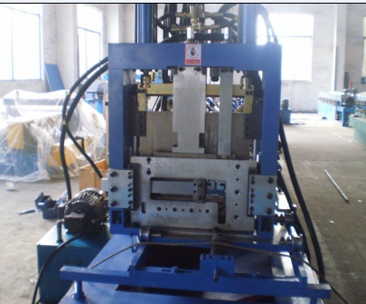 Galvanized Steel C Z Purlin Roll Forming Machine Hydraulic Hole Punching ce standard