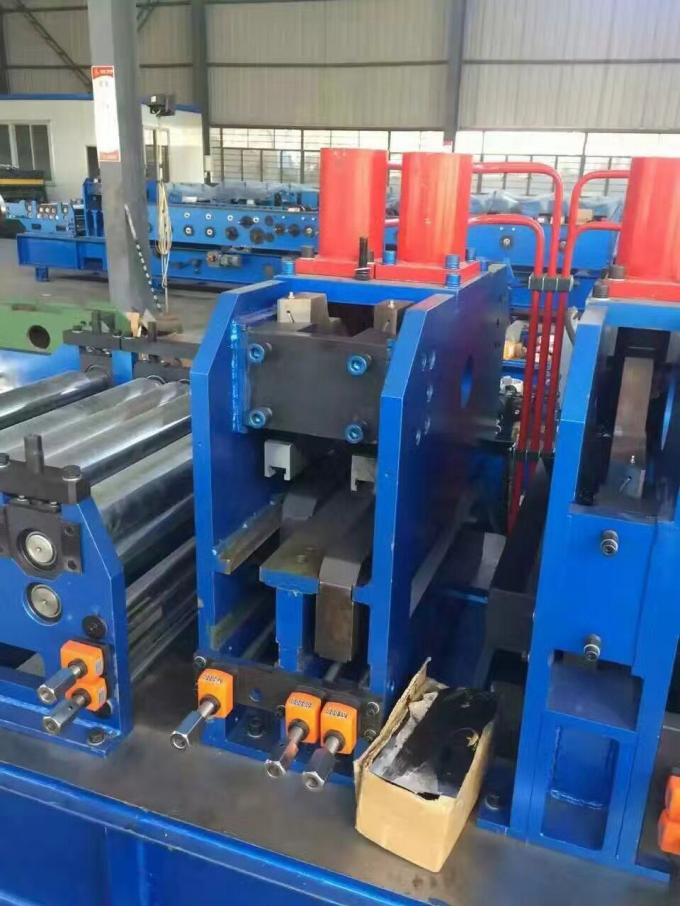 Customized CZ Purlin Roll Forming Machine Chain Drive For Metal Profiles