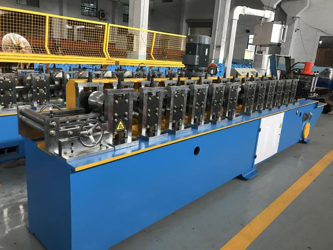 3 Ton Manual Decoiler PU Shutter Door Roll Forming Machine 0.27 - 1.2mm Thickness