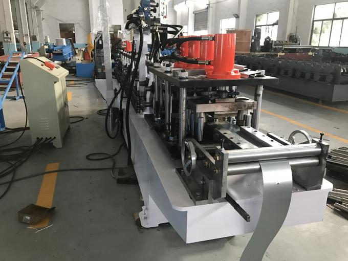CE Certification Shutter Door Roll Forming Machine 11T 0.7 - 1.2mm Material Thickness