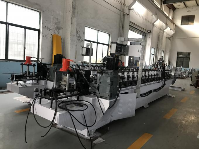 PU Shutter Door Roll Forming Equipment PLC With Touch Screen Control System